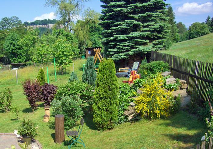 Garten mit Blick zum Königstein