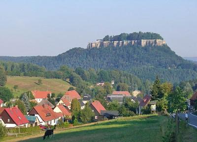 Festung Königstein im Morgenlicht