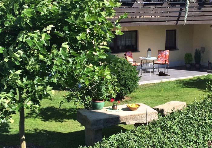 Entspannung pur - der Garten am Gästehaus